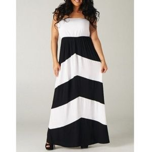 Women\'s Black And Plus Size White Tube Dress on Poshmark